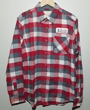 Lone Girl Red Flannel Shirt