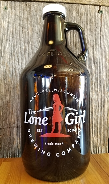 Lone Girl Brewing Company Glass Growler