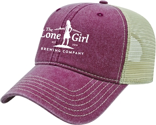 Lone Girl Brewing Company Red Vintage Snapback