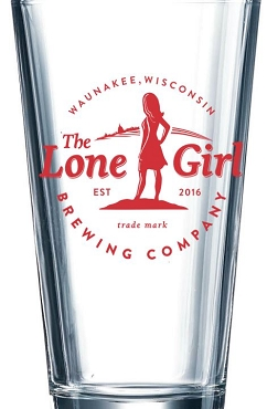 Lone Girl Brewing Company Pint Glass